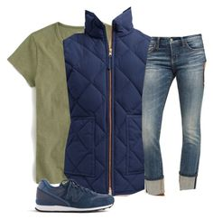 """""""Untitled #57"""" by littlepearl ❤ liked on Polyvore featuring J.Crew, Pilcro and New Balance"""