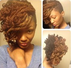 half shaved kinky twist with curls more kinky twists hairstyles ...