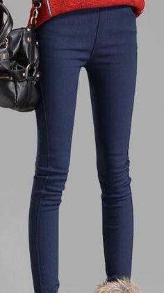 women pants capris plus size pencil pants fleece warm casual pants female trousers elastic Autumn Winter velvet thick leggings
