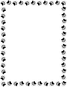 Pin by muse printables on page borders and border clip art bear paw print bear paws polar - Paw print wall border ...