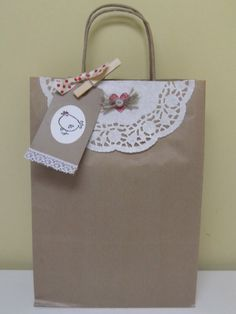 Hen Brown Paper Gift Bag