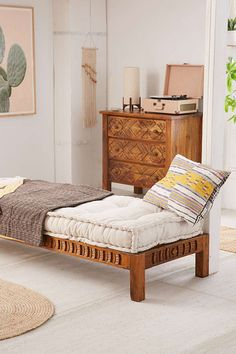 Slide View: 1: Amira Carved Wood Daybed