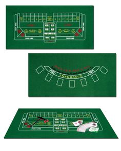 What is a Vegas/Casino themed party without the BlackJack/Craps game? Comes with... 1 Piece of Game Felt (approximately 44.5cm high x 91.5cm wide) that has a Blackjack Table setup on one side and a Craps Table setup on the other 1 Plastic Craps Rake (approximately 22.5cm high x 10cm wide). 1 Deck of Playing Cards. 1 Pair of Red Plastic Dice. 1 Plastic On/Off Puck (approximately 4cm wide). 1 Instruction Sheet for both Blackjack and Craps.