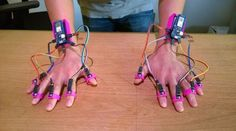 Want Gesture-Tracking? All You Have To Do Is Lift Your Finger. - Everything about Arduino Want Gesture-Tracking? All You Have To Do Is Lift Your Finger. Electronics Gadgets, Electronics Projects, Hobby Electronics, Arduino Programming, Linux, Robotics Engineering, Robot Kits, Diy Tech, Raspberry Pi Projects