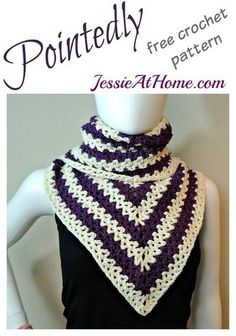 Pointedly - a free crochet pattern for the fall!