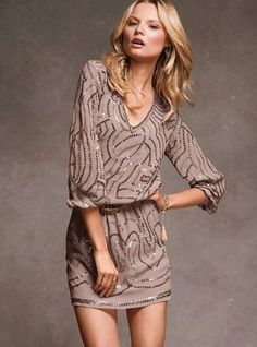 Love love love long sleeve and three quarter sleeve mini dresses!