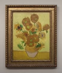 SUNFLOWERS. VAN GOGH. Have a print in living room.🌻