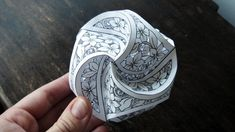 Here is a new version for all you papercut lovers out there! Find out how to make a Triskele Paper Globe that involves cutting out a beautiful floral pattern...