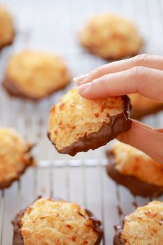 3 Ingredient Coconut Macaroons - Condensed milk, coconut and chocolate! it could not be simpler