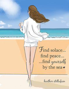 Find Solace and Peace Heather Stillufsen Beach Art