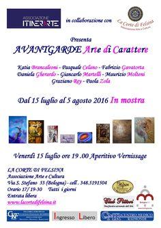Dal 15 luglio al 5 agosto 2016 La Corte di Felsina e Itinerarte presentano la mostra