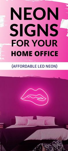 This biting lip LED neon sign will let you experience light like never before - made to order, ready to wow your guests. Neon Home Decor, The Heat, Led Neon Signs, Lips, Let It Be, Workout, Cover, Instagram, Work Out