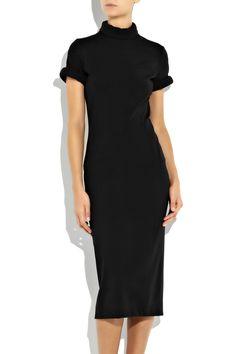 BOTTEGA VENETA short-sleeved wool-blend dress