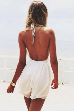 HALTER, OPEN BACK ROMPER