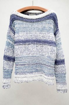 Isabel Marant - knit with different types of yarn + different techniques