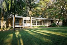 Casa Oscar Americano, Morumbi, São Paulo SP. Oswaldo Arthur Bratke, 1952<br />Foto Nelson Kon