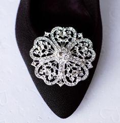 Bridal Shoe Clips Crystal Rhinestone