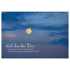 Poetische Postkarte Sprüche Freundschaft: Ich bin bei Dir