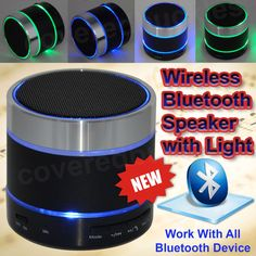 Wireless Bluetooth Portable Speaker Speakers for iPhone MP3 + LED Light Dancing