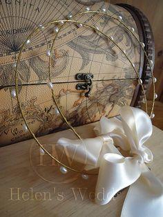 Στέφανα γάμου /stefana Orthodox Wedding, Lemon Blossoms, Small Bouquet, Flower Corsage, Greek Wedding, White Ribbon, Stones And Crystals, Precious Metals, Wedding Ceremony