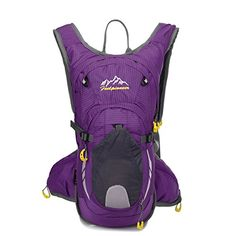 Sfeibo Cycling Hiking Daypacks Hydration Packs Without Hydration Trekking Rucksacks Travel Bag Purple ** Want to know more, click on the image.