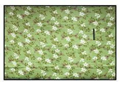 Pikniková deka s motívom kvetov zelenej farby