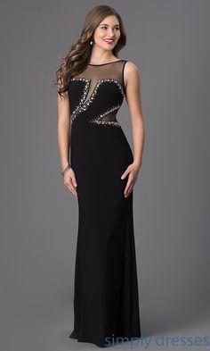 Floor Length Sleeveless Embellished Dress IT-3300