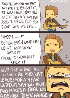 How have I never seen an Adventure Time/Supernatural crossover because this is the best thing ever!!!!!!