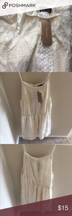 NWT Francesca's Lace Dress Knee length, lace style dress. New with tags. Never been worn, no rips, tears or stains. Fits true to size. Purchased in 2016. Francesca's Collections Dresses Mini