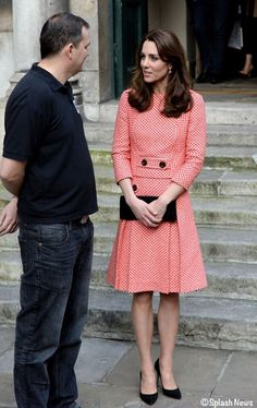 For today's engagement with urban youth charity XL Mentoringthe Duchess wore a design bya label new to her wardrobe, Eponine London.