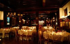 lodge wedding venue...romantic and cozy for a winter wedding