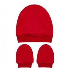4b028aeba O Kit Touca e Luva Vermelha para Bebê é ótimo para aquecer seu pequeno nos  dias