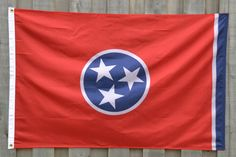 Tennessee State Flags, Nylon, 3 ft. by 5 ft. Available in Tennessee Orange, Black and Gold, and Traditional Red State Flags