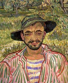 """bofransson: """"Portrait of a Young Peasant Vincent van Gogh - 1889 """""""