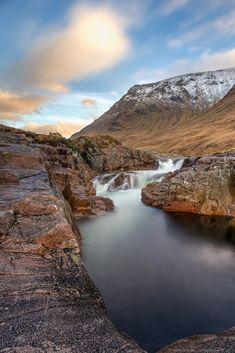 waterfall glencoe highlands scotland