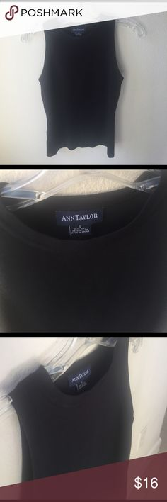 Ann Taylor Black Silk Blend Top Sleeveless shell made of 75% silk and 25% nylon. Ann Taylor Tops