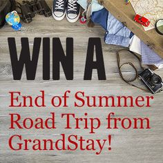 Enter to win an End of Summer Road Trip from GrandStay! End your summer by enjoying a two-night stay at any GrandStay Hotel & Suites or Crossings by GrandStay location, a car rental from Kline Volvo to get you there, and a #GrandStaySelfie stick to record all of your adventures along the way!