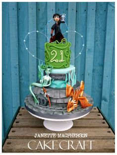 Harry Potter Cake and The Goblet of Fire Cake made by Janette MacPherson Cake Craft