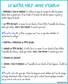Water only- mode d'emploi- comment faire- échos verts Poo, Rides Front, Diy Beauty, Beauty Stuff, My Hair, Healthy Life, Hair Care, Content, Feelings