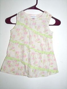 Bitty-Baby-by-American-Girl-Pink-Floral-Green-Off-White-Spring-Tank-Dress-6