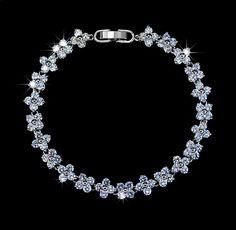 Flower Cubic Zirconia Wedding Strand Bracelet by AmodeJewelry, $23.50
