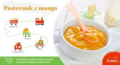 pasternak z mango Cheeseburger Chowder, Cantaloupe, Mango, Food And Drink, Soup, Fruit, Drinks, Baby, Manga