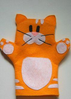 keçeden kedi kuklası yapımı | Evimin Altın Topu Glove Puppets, Felt Puppets, Felt Finger Puppets, Hand Puppets, People Puppets, Puppets For Kids, Sewing Kids Clothes, Sewing For Kids, Puppet Crafts