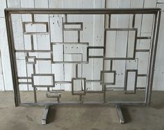 Decora Squares Fireplace Screen   Fireplace screens, Transitional fireplace  mantels and Transitional fireplaces