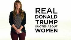 Anti-Trump Ad shows women reading Donald Trump comments The Republican group looking to block GOP presidential front-runner Donald Trump from the nomination . Real Donald Trump, Donald Trump Quotes, Things Trump Has Said, Wahlen Usa, Trump Comments, Women In America, Truth To Power, Vote Trump, Woman Reading
