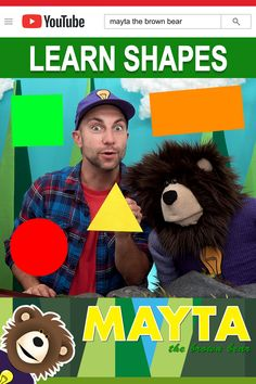 Learn Shapes for Kids - Educational Videos for Toddlers. Learning shapes with Mayta and B. Watch the Idea choo choo train bring in a circle, square, rectangl. Baby Learning Videos, Toddler Learning, Toddler Activities, Shapes For Kids, Choo Choo Train, Learning Shapes, Educational Videos, Pentagon, Brown Bear