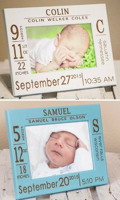 This contemporary picture frame is perfect for new moms and dads to remember that special day. #affiliate #baby