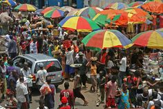 Market in Freetown, Sierra Leone (not sure if I'm ready for 2 years of this)