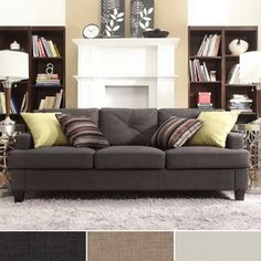 Shop for Elston Linen Tufted Sloped Track Sofa by MID-CENTURY LIVING. Get free shipping at Overstock.com - Your Online Furniture Outlet Store! Get 5% in rewards with Club O!