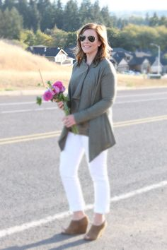 White Jeans for Fall - Chic California